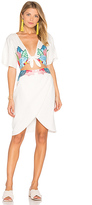 6 Shore Road Embroidered Flora Dress in White