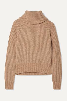 Diane von Furstenberg Pax Ribbed-knit Turtleneck Sweater - Sand