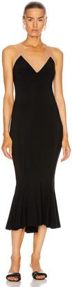 Norma Kamali Racer Fishtail Dress in Black | FWRD