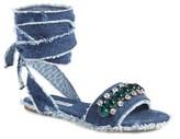 Miu Miu Women's Jewel Lace Up Sandal