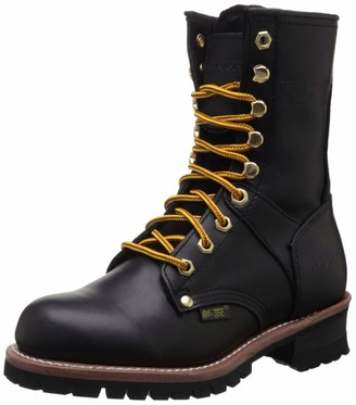AdTec Ad Tec Womens 9 Inch Logger Black Work Boot Non Slip Traction Control Long Lasting Lug Sole Work Shoes for Women