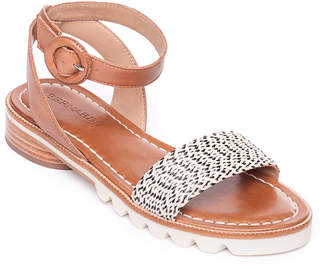Bernardo Alexis Raffia Ankle Sandals