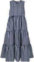 P.A.R.O.S.H. striped sleeveless midi dress
