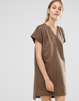 People Tree Organic Cotton Roll Sleeve Tunic Dress