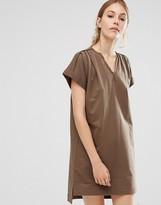 People Tree Organic Cotton Roll Sleeve Tunic Dress