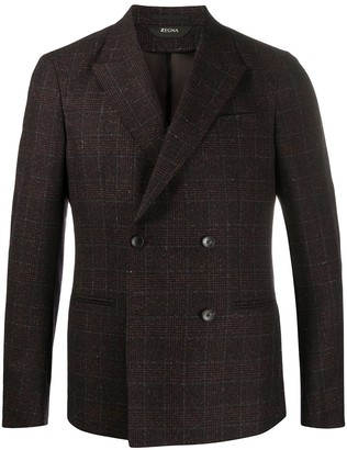 Ermenegildo Zegna Checked Double-Breasted Blazer