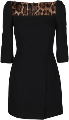 Dolce & Gabbana Black Wool Blend Dress