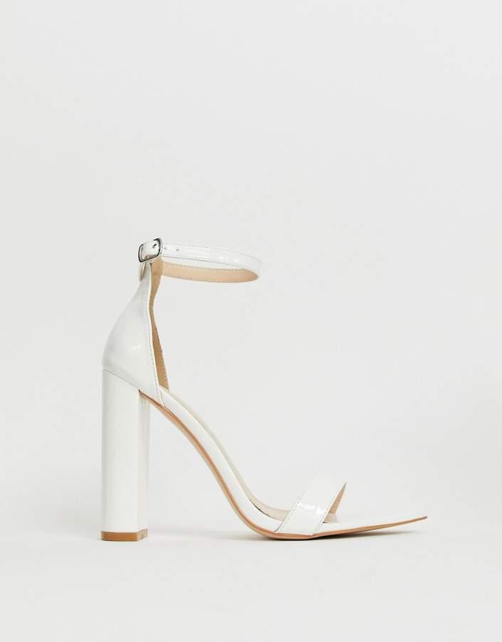 241bf73b977 Miao white patent block heeled sandals
