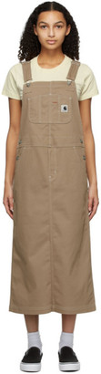 Carhartt Work In Progress Beige Bib Skirt Dress