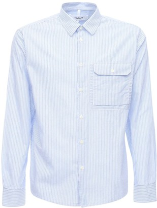 Soulland Striped Cotton Shirt W/pocket