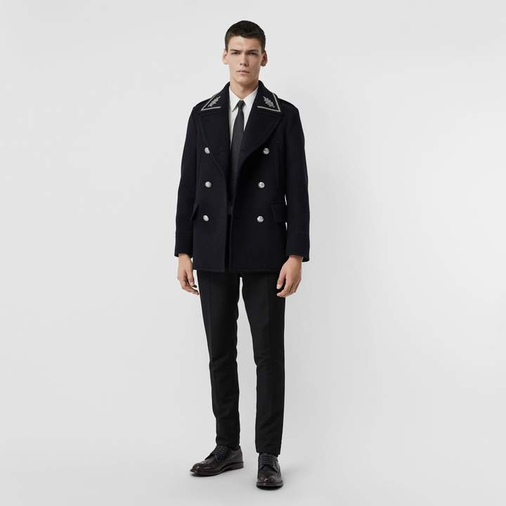 Burberry Bullion Wool Cashmere Pea Coat