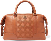 Tory Burch Bryant quilted leather and textured-leather tote