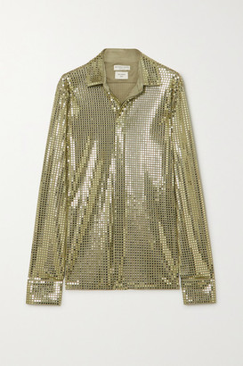 Bottega Veneta Sequin-embellished Satin-jersey Shirt - Green