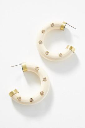 Anthropologie Peyton Hoop Earrings By in Beige