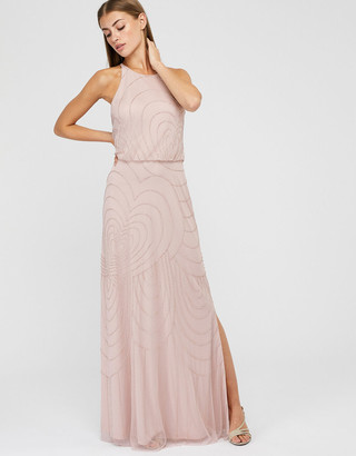 Under Armour Britta Sustainable Embellished Occasion Dress Pink
