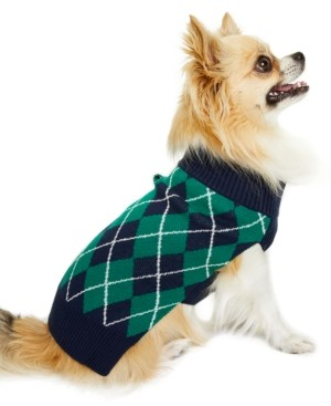 Charter Club Argyle Pet Sweater, Created for Macy's