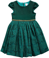 Youngland Emerald Lace Cap-Sleeve Dress - Toddler & Girls