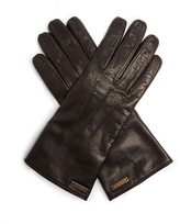Burberry Topstitched leather gloves
