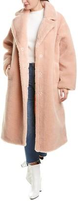Stand Studio Maria Wool-Blend Teddy Coat