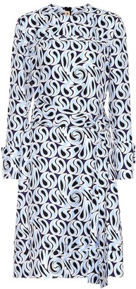 Marni Printed silk midi dress