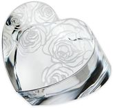 Monique Lhuillier Waterford Sunday Rose Crystal Heart Paperweight