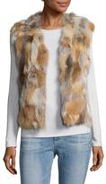 Adrienne Landau Natural Fur Vest