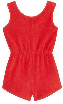 Arket Cotton Towelling Playsuit