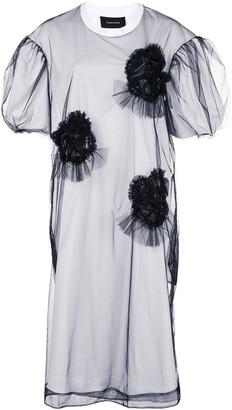 Simone Rocha tulle appliqué sheer dress