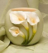 Ibis and Orchid Designs Calla Lily Flowers of Light Votive