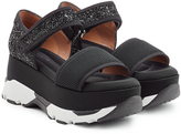 Marni Mixed-Media Platform Sandals