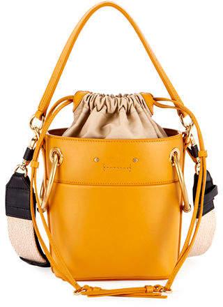 Chloé Roy Mini Smooth Leather Bucket Bag