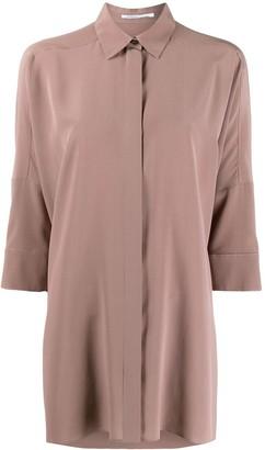 Agnona oversized crepe de Chine shirt