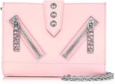 Kenzo Kalifornia Light Pink Gommato Leather Wallet w/Chain Strap
