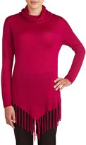 Peter Nygard Nygard Women's Regular Cowl Neck Pullover with Fringe