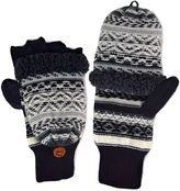Muk Luks Fair Isle Fingerless Flip Top Gloves