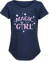Navy 'Magic Girl' Curved-Hem Tee - Girls