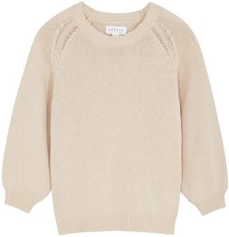 Velvet by Graham & Spencer Yara Taupe Knitted Cotton Jumper