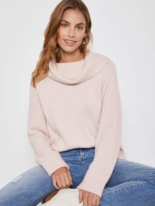 Mint Velvet Easy Funnel Chunky Knit Jumper - Pink