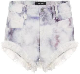 Isabel Marant Eneida tie-dye denim shorts