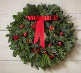 Pottery Barn Live Fir & Red Fruit Wreath