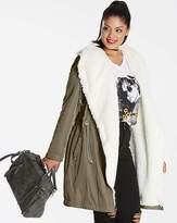 Fashion World Faux Shearling Lined Soft Parka