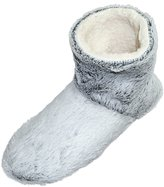 Snookiz Microwave Heated Slippers Faux Fur Short Booties for Women