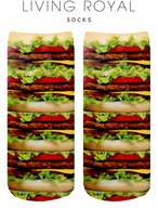 LIVING ROYAL Stacked Hamburgers Ankle Socks