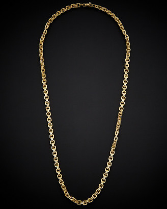 Italian Gold 14K Square Link Necklace