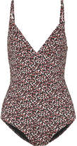 Matteau - The Plunge Printed Swimsuit - Brown
