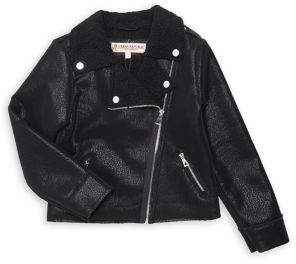 Urban Republic Girl's Faux Leather Zip Jacket