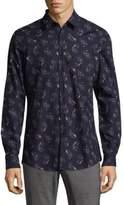Strellson Slim Fit Flower Print Shirt