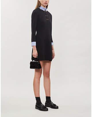 Sandro Delna fit-and-flare crepe mini dress