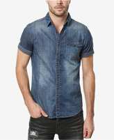 Buffalo David Bitton Men's Single Pocket Denim Shirt