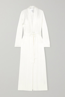 Galvan Satin Trench Coat - Ivory